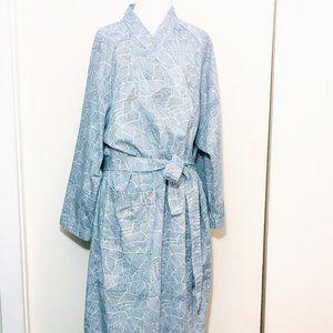 Graphic Print Cotton Yukata Spa Robe